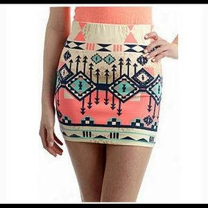 Freeway Aztec print pencil skirt
